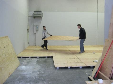 Gymnastics Floor Assembly by Sprung Floor Building At Our S New Home Pacific