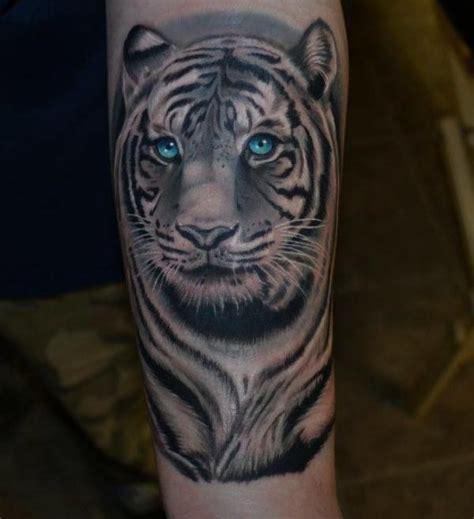3d tier tattoos 3d blue tiger portrait tattos