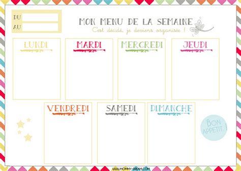 menu semaine cuisine az planning vierge menu de la semaine recettes cookeo