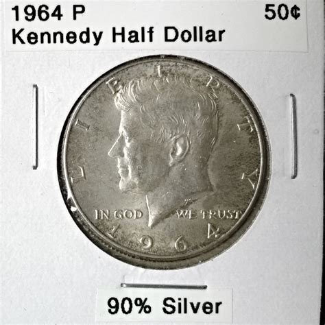 kennedy half dollar 1964 1964 p kennedy half dollar for sale buy now online item 176991