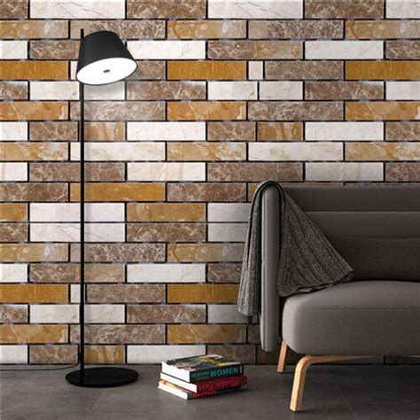 3d bamboo imitation wall stickers vintage decor for cafe