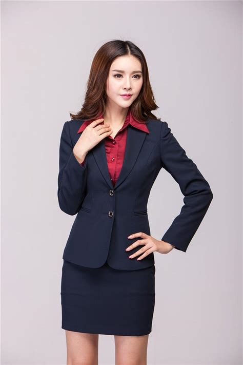 We have curated a shop the job guide with original beautician and spa uniforms ideas from cargo crew and salons. Autumn Winter Formal Office Uniform Designs Women Suits ...