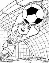 Coloring Pages Soccer Printable sketch template