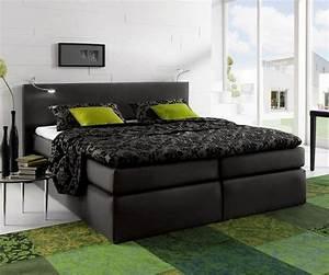 Bett Topper 180x200 : delife bett alan schwarz 180x200 mit matratze und topper ~ Lateststills.com Haus und Dekorationen