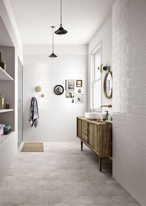 Bathrooms with Hexagon Tile Floors