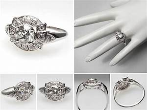 vintage and antique engagement rings from eragem chic With vintage art deco wedding rings