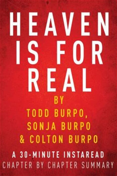 Heaven For Real Todd Burpo Minute Chapter