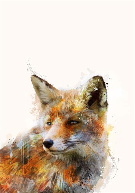 schlau wie ein abstract fox motiv der geistesstaerke