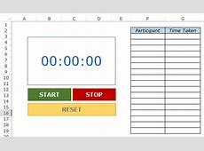 Creating a Stopwatch in Excel Basic + Toastmasters Style