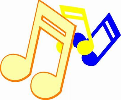 Colorful Symbols Notes Musical Clipart Advertisement