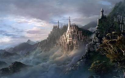 Backgrounds Desktop Surrealism Surrealist Apple Castle Fantasy