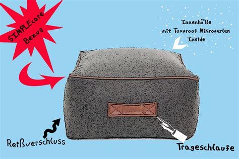 eps mikroperlen kaufen im univok shop pouf eckig mit toxproof mikroperlen