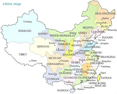 china map  cities  travel information