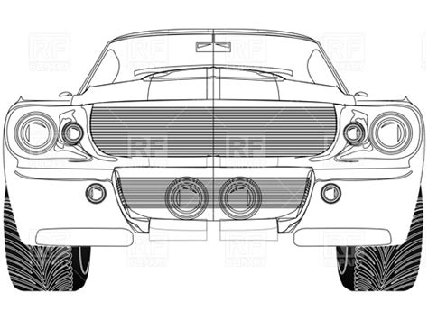 Sport Car Front View Vector Image Of Transportation