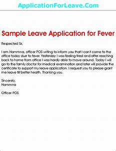 Sample Leave Application for Fever