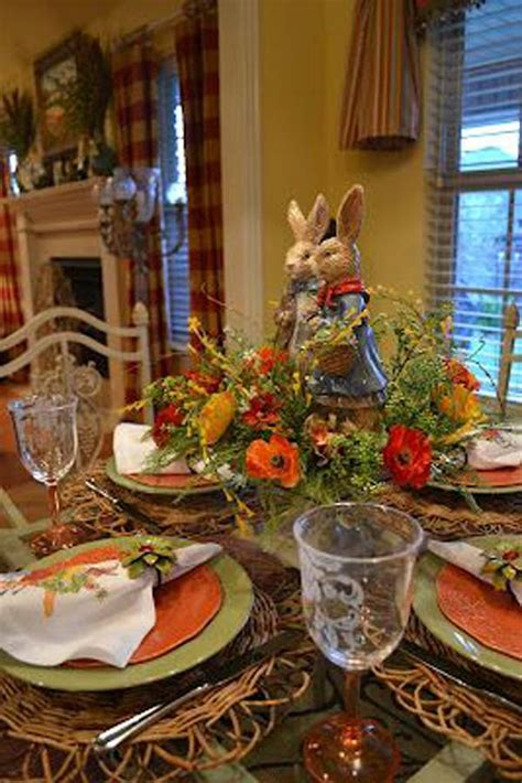 top  lovely  easy   easter tablescapes