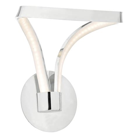 killian wall light polished chrome acrylic led