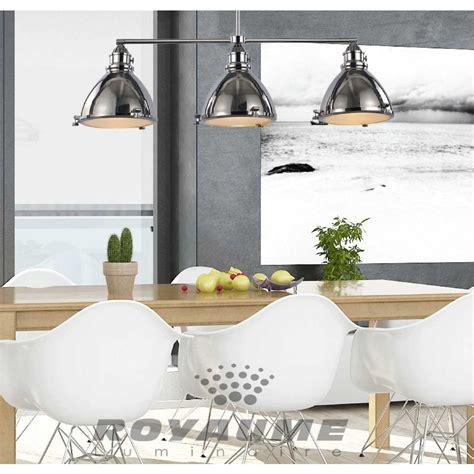 luminaire suspendu design cuisine luminaire suspendu de style industriel en métal chrome