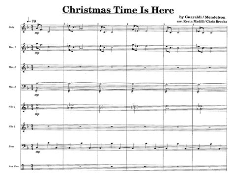 Christmas Time Is Here (percussion Ensemble&