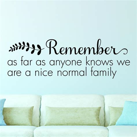 nice normal family wall quotes decal wallquotescom