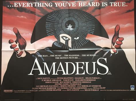 Wolfgang amadeus mozart (tom hulce) is a remarkably talented young viennese composer who unwittingly finds a fierce rival in the disciplined and determined antonio salieri (f. Amadeus - Vertigo Posters