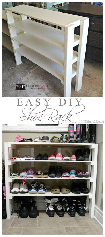 best 25 diy shoe storage ideas on pallet