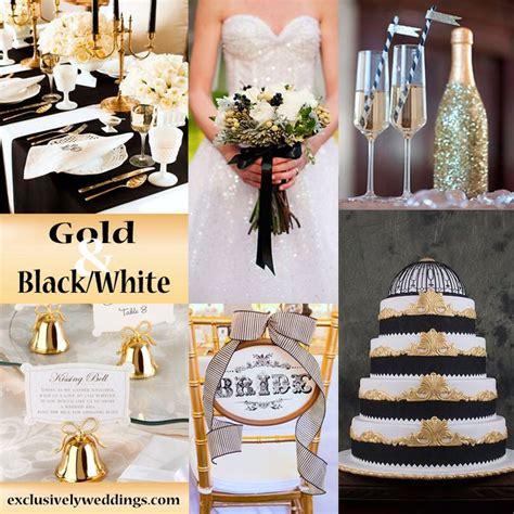 black white gold wedding theme wedding  pinterest