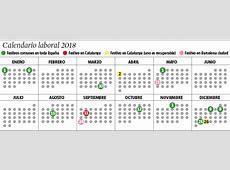 Calendario laboral 2018, todos los días festivos