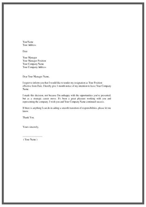 resignation letter template  docs