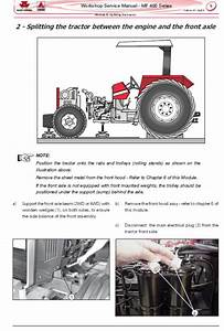 Massey Ferguson Mf 445  460  465  475 Tractor Service
