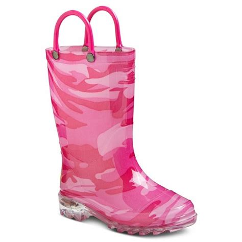 light up boots for girls girls 39 light up western chief camo rain boots