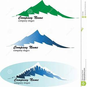 Mountain logos stock vector. Image of nature, three, trail ...