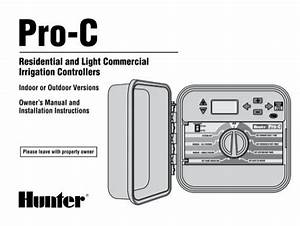 Hunter Pro-c Modular Controller Owners Manual