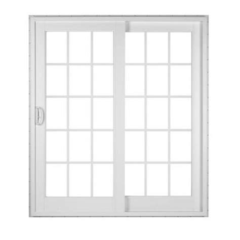 simonton white 2 panel rail sliding patio door with