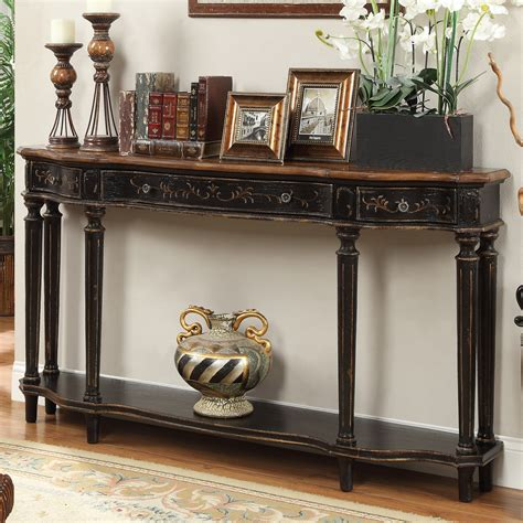 wood  glass long console tables homesfeed
