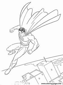 The Superman Flying In The Sky Free Coloring Page07a8 ...