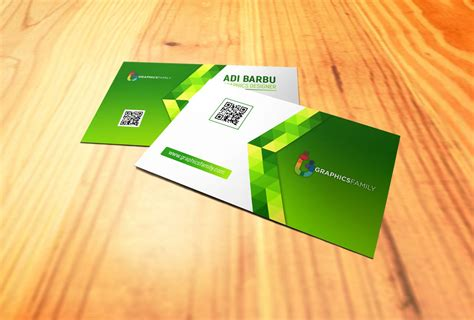 green abstract business card  psd template