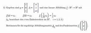 Abbildungsmatrix Berechnen : abbildungsmatrix abbildungsmatrix bestimmen mathelounge ~ Themetempest.com Abrechnung