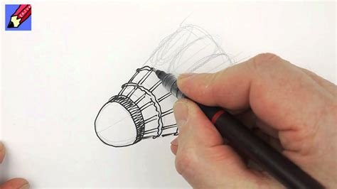 draw  shuttlecock real easy youtube