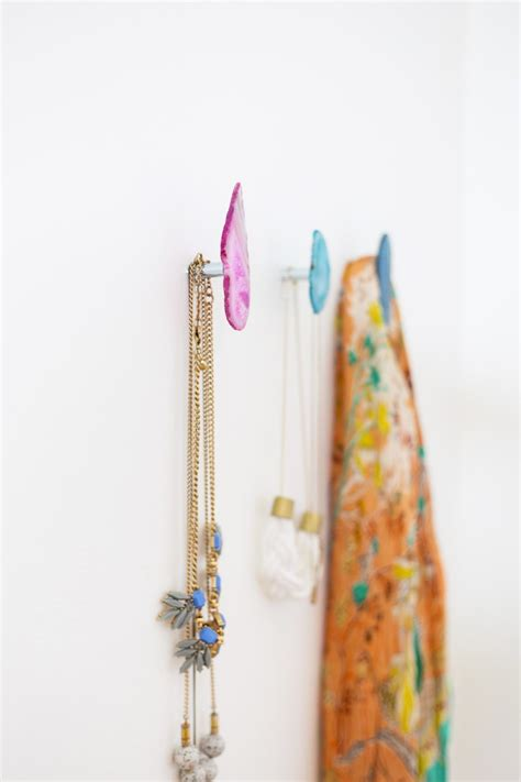 diy wall hooks diy agate stone wall hooks 187 lovely indeed