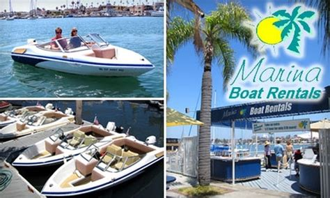 Boating License Groupon by Marina Boat Rentals In Newport California Groupon
