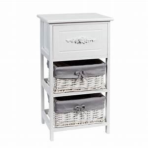 La Maison Du Blanc : petit meuble de rangement blanc l 37 cm rosa maisons du ~ Zukunftsfamilie.com Idées de Décoration