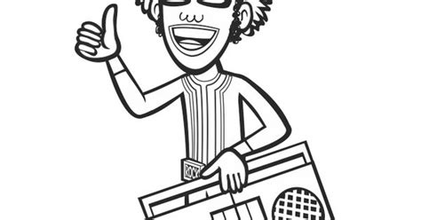 djlance coloring sheet yogabbagabba coloringsheet freeprintable dj lance rock pinterest