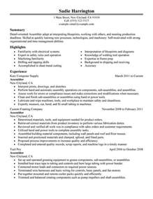 electronic assembler resume template unforgettable assembler resume exles to stand out myperfectresume