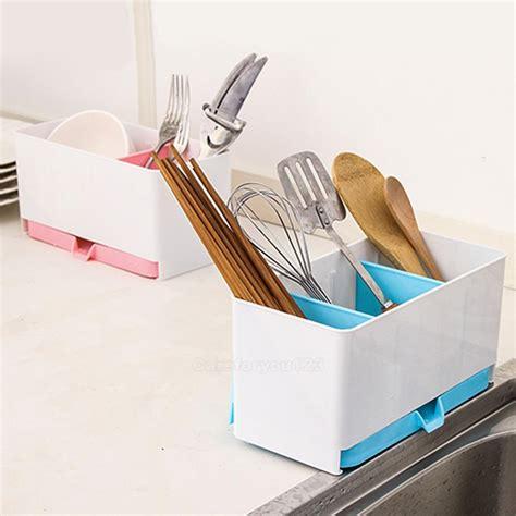 Plastic Utensil Holder Rack Organizer Spoon Chopsticks
