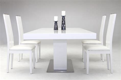 zenith modern white extendable dining table modern