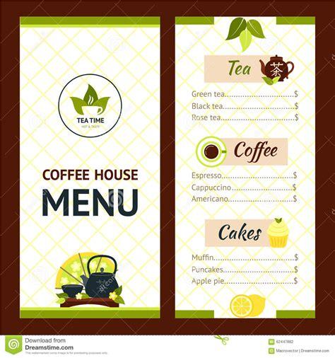 Tea Menu Template by Tea Cafe Menu Stock Vector Illustration Of Brochure