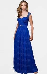 formal bridesmaid dresses royal blue sheath column straps floor length chiffon prom dress kissydress uk