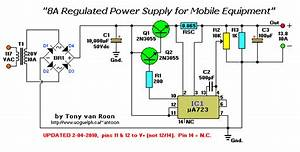 8 Amp Regulated Power Supply For Operating Mobile