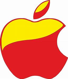 Apple Logo Red and Yellow by VictorMTavarez on DeviantArt